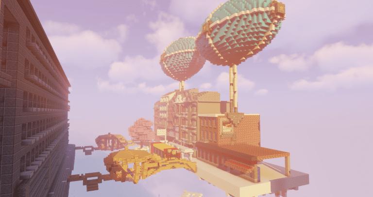 Une version Steampunk de la place Cockerill © Liège Game Lab